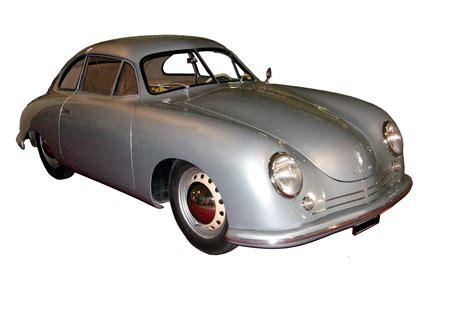 first porsche car porsche 356 on a rainy evening the very first model