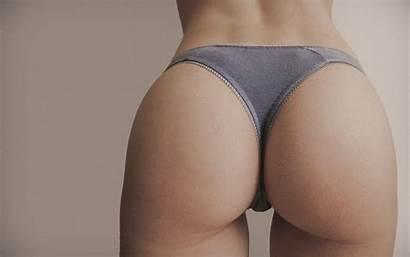 Ass Panties Gap Grey Background Closeup Simple