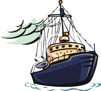 Clipart Of Fishing Boat by Fishing Boat Silhouette Clip Art Clipart Panda Free