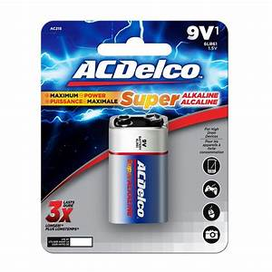 9 Volt Batterie : acdelco super alkaline 9 volt battery 12 pack ac265 the home depot ~ Markanthonyermac.com Haus und Dekorationen