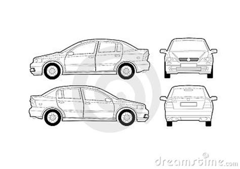 generic saloon car diagram royalty free stock photography 1159987