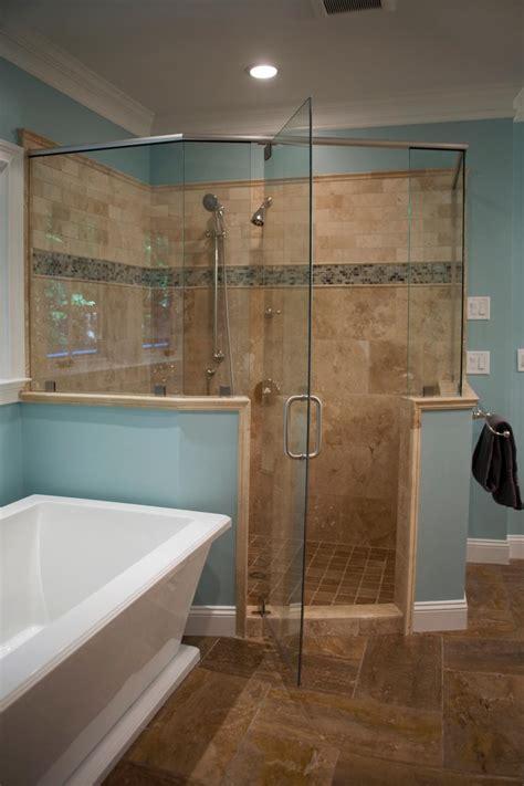 traditional master bathroom  glass enclosed shower hgtv