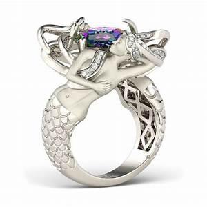 500 best halloween jewelry images on pinterest halloween With mermaid wedding ring
