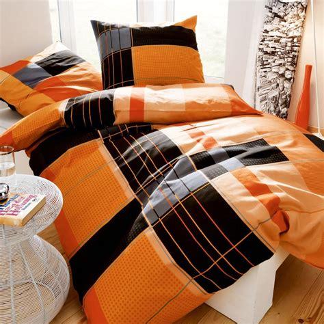 kaeppel bettwäsche 155x220 kaeppel biber bettw 228 sche 155x220 cm dessin purist 3137 schwarz mandarine orange ebay