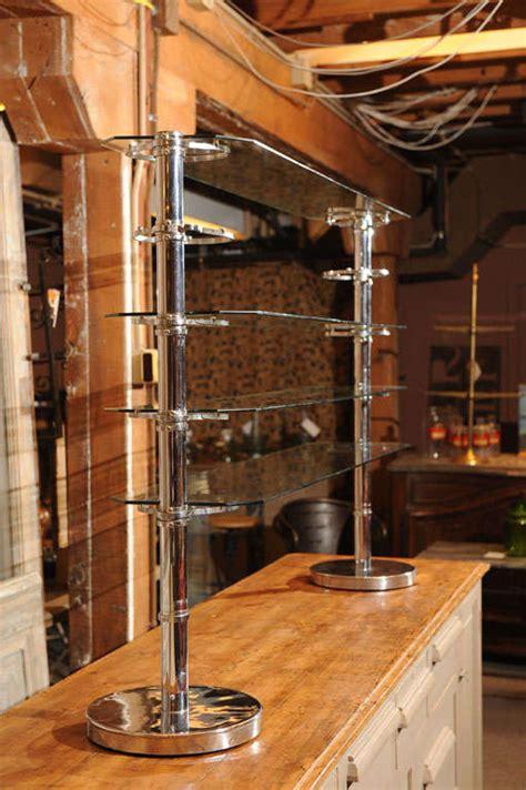 glass  chrome art deco store display  sale  stdibs