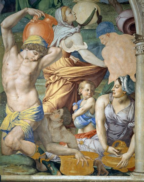 Agnolo Bronzino The Falling Of The Manna 1540 45