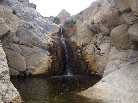 Guadalupe Canyon, Baja California, Mexico   Waterfall #1 is just a