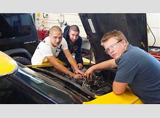 Auto Shop students working to restore classic Corvette