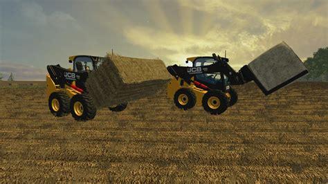 jcb skidsteer  bale handling tools  ls farming