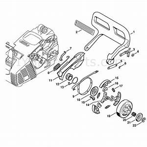 Stihl Ms 190 Chainsaw  Ms190 T  Parts Diagram  Hand Guard