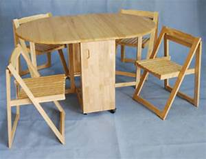 Fold away table and chairs marceladickcom for Awesome fold away furniture