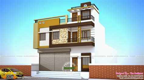 2 floor houses 2 house plans with shops on ground floor kerala home
