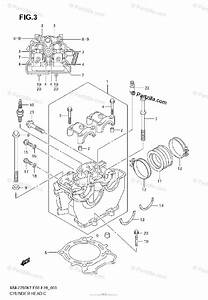 Suzuki Motorcycle 2008 Oem Parts Diagram For Cylinder Head