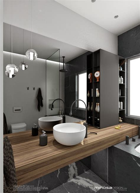 The hero of this bathroom design is the vanity The