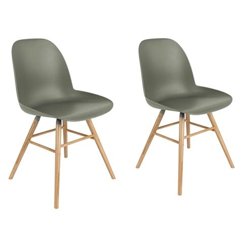 zuiver chaise zuiver pair of albert kuip retro moulded dining chairs in