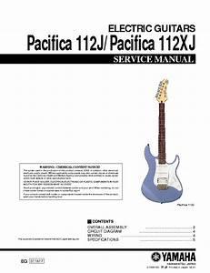 Yamaha Pacifica 112j 112xj Service Manual Download