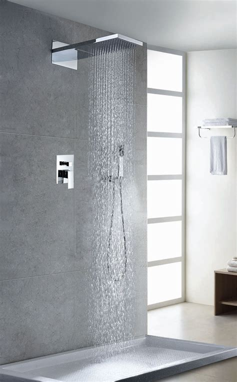 Modern Bathroom Design With Shower by Contemporary Modern Shower Faucet Polished Chrome