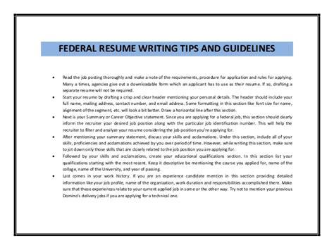 federal resume sle pdf