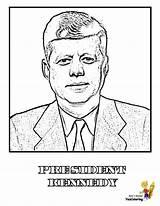 Coloring Presidents President Kennedy Yescoloring Jfk Printables Usa Prestigious America Patriotic Boys sketch template