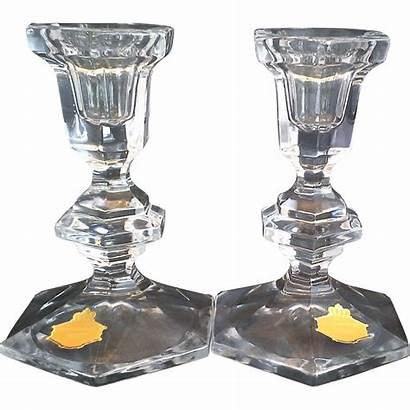 Bleikristall Lead Crystal Candle Holders Beyer Candlesticks