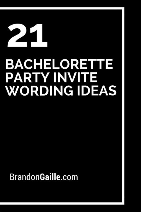 bachelorette party invite wording ideas bachelorette