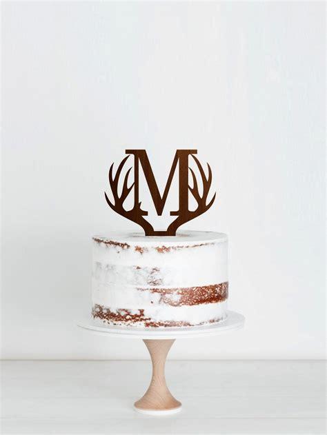 letter  cake topper antlers wedding cake topper etsy antlers wedding cake wedding cake