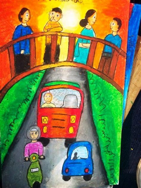 road safety club khms  painting competition