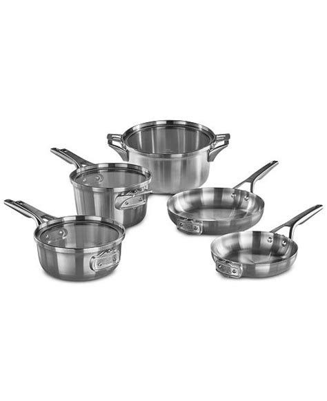 Essentials Calphalon Stainless Steel Reviews by Calphalon Premier Space Saving 8 Pc Stainless Steel