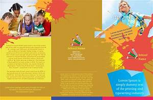 play school brochure templates colorful day care nursery With play school brochure templates