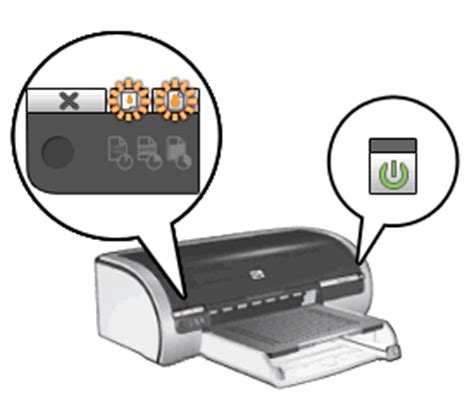 What Is The Resume Button On Hp Printer by Blinking Lights On The Hp Deskjet 5100 And 5650 Printer Series Hp 174 Customer Support