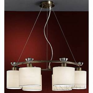 Piazza fl el pendant ceiling light bronze fabric shade