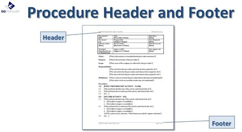 Concept Of Operations Template Navy by Standard Operating Procedure Template Business