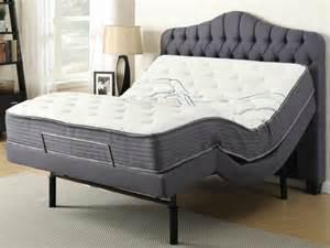 soria adjustable bed base with queen mattress headboard wireless remote and massage bailey 39 s