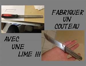 Faire Un Thé Glacé : tuto faire un couteau dans une lime make a file knife ~ Dode.kayakingforconservation.com Idées de Décoration
