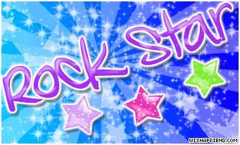 girly attitude facebook graphic rock star