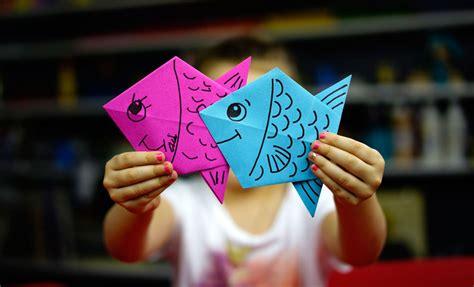 fold  origami fish art  kids hub