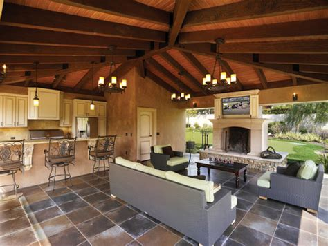 European Style Outdoor Living Space