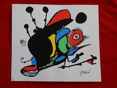 Miro Ink Joan Drawing Drawings Abstract Fine