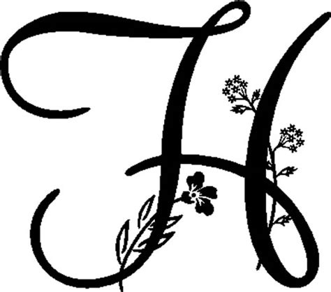 floral illustrated letter  decals  stickers  home  quality decals  stickers