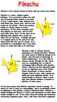 pikachu reading comprehension  teaching resources uk tpt