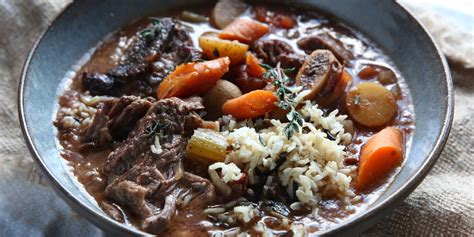 cooker dinner recipes best slow cooker short rib stew and wild rice recipe how to make slow cooker short rib stew and
