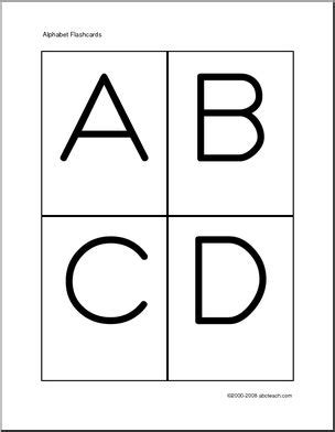 capital letter alphabet flash cards pictures to pin flashcards manuscript letters a z zb style font abcteach 26846