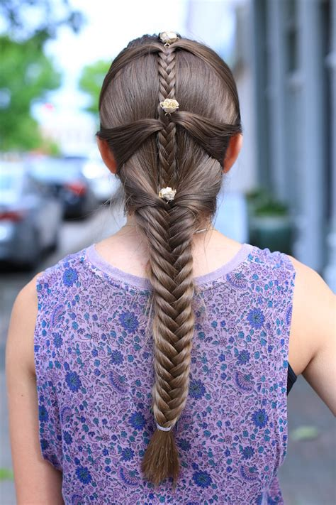 Fishtail Mermaid Braid Cute Girls Hairstyles