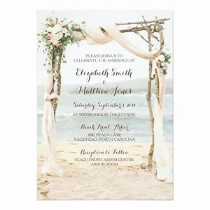 beach arbor wedding invitation zazzlecom With beach wedding e invitations
