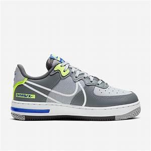 nike air 1 react wolf grey white boys shoes
