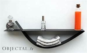 Tablette Pour Salle De Bain : etag re murale noire tag re design m tal tablette murale moderne ~ Melissatoandfro.com Idées de Décoration