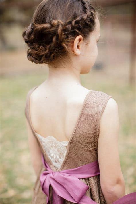 gorgeous flower girl hairstyles brit