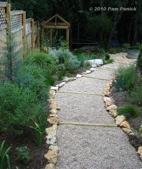 sloped walkway ideas easy gravel path on a slope once upon a garden pinterest gravel path paths and gardens