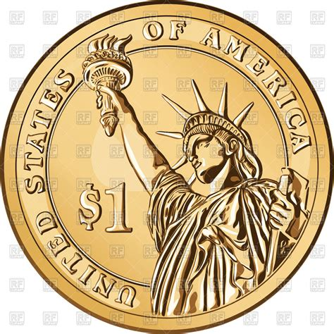 one dollar coin american money one dollar coin with the statue of liberty business finance download royalty