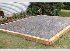 Ideas for Gravel Pad for Shed Concrete Pad for Garages